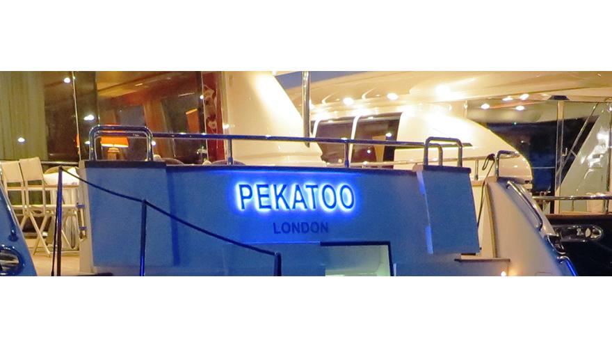 Lettres rétro éclairées bateau yatch
